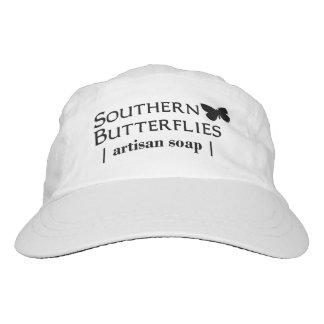 Southern Butterflies Woven Hat, Black Logo Hat