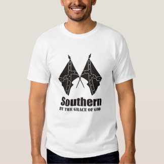southern by the grace of god t shirt