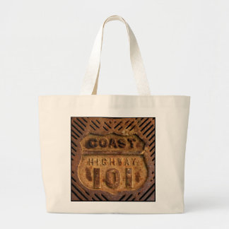 Southern California-Coast Hwy 101 Encinitas style! Large Tote Bag
