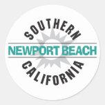Southern California - Newport Beach Round Stickers