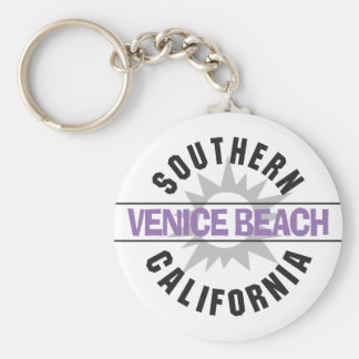 Southern California - Venice Beach Basic Round Button Key Ring