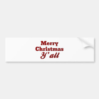 Southern Christmas Greeting Houndstooth Bumper Sticker