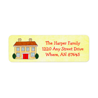 Southern Colonial Preppy Yellow Address Labels