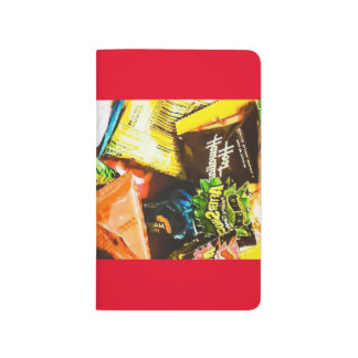 Southern colorful package photo note red journal