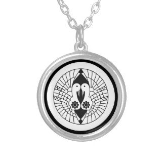 Southern crane silver plated necklace