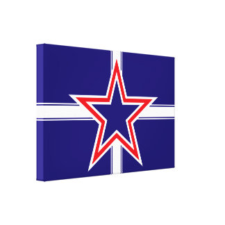 Southern Cross flag, star crossed red white & blue Gallery Wrapped Canvas