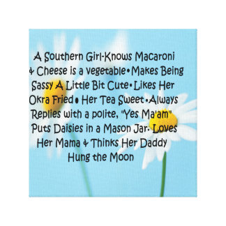 Southern Girl Gallery Wrapped Canvas