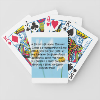 Southern Girl Bicycle Poker Deck