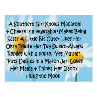 Southern Girl Postcard