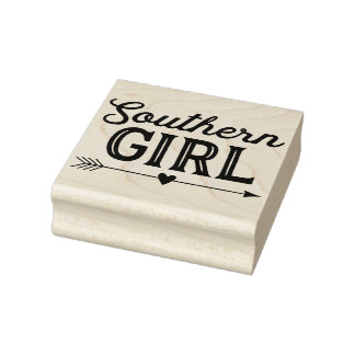 Southern Girl Rubber Art Stamp