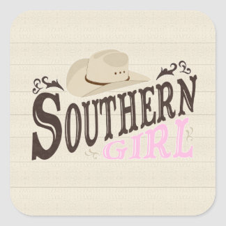 Southern Girl Square Sticker