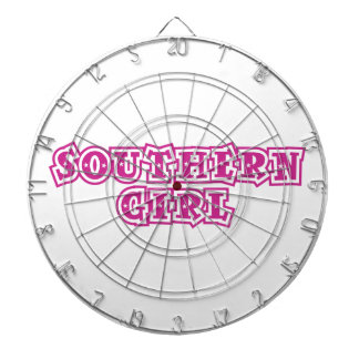 southern girl star hot pink dartboard with darts