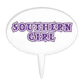 southern girl star purple cake picks