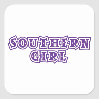 southern girl star purple stickers