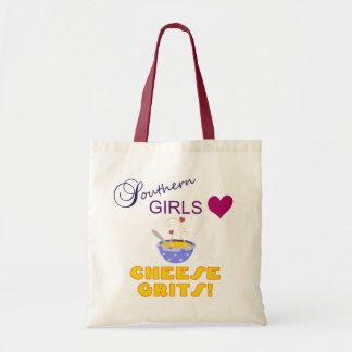 Southern Girls Love Cheese Grits Tote Bags