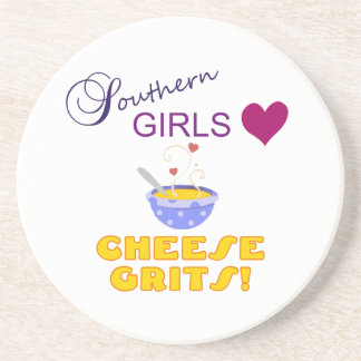 Southern Girls Love Cheese Grits Beverage Coasters