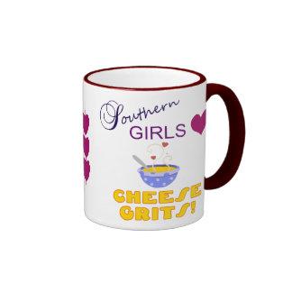 Southern Girls Love Cheese Grits Ringer Mug