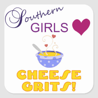 Southern Girls Love Cheese Grits Stickers