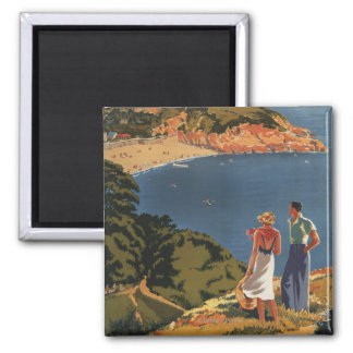 Southern/Great Western Rail Couple on Cliff Square Magnet