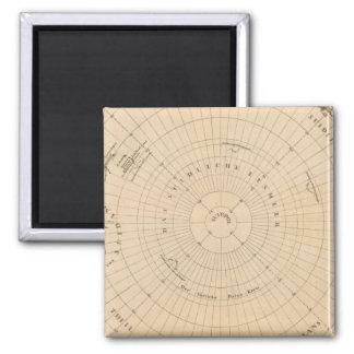 Southern Hemisphere, Antarctica Square Magnet