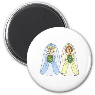 Southern Lesbian Wedding 6 Cm Round Magnet