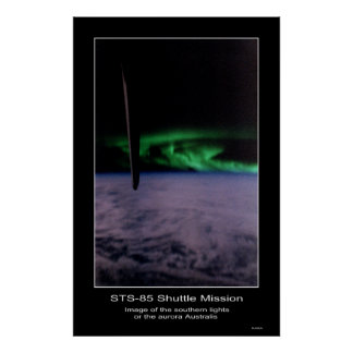 Southern lights the aurora Austral... Poster