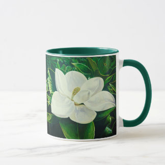 Southern Magnolia Awesome  White Flowers Mug