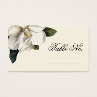 Southern Magnolia Botanical Wedding Escort Cards