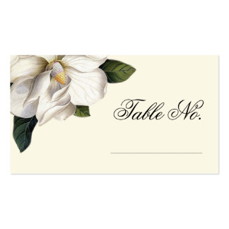 Southern Magnolia Botanical Wedding Escort Cards Pack Of Standard Business Cards