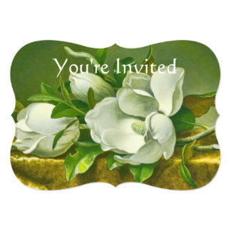 Southern Magnolia Flower Wedding 13 Cm X 18 Cm Invitation Card