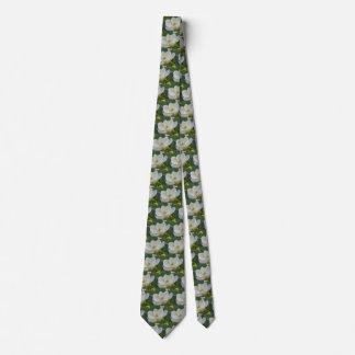 Southern Magnolias Blossoms Flowers Men's Fashion Tie