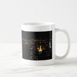 Southern Manhattan's East Side at Night 001 Basic White Mug