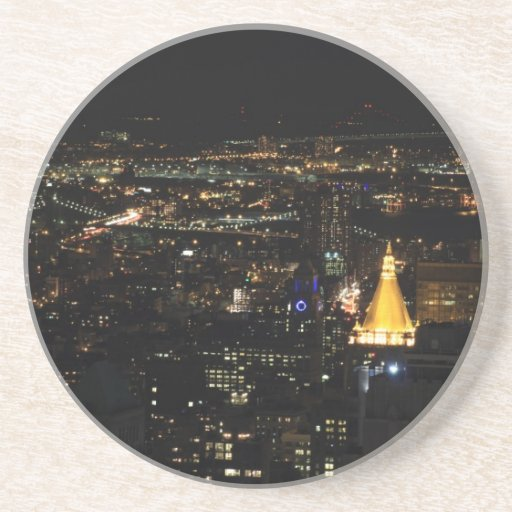 Southern Manhattan's East Side at Night 001 Coasters