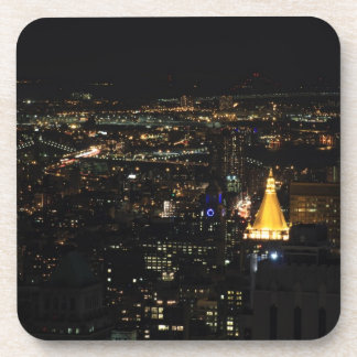 Southern Manhattan's East Side at Night 001 Drink Coaster