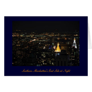Southern Manhattan's East Side at Night 001 Greeting Card