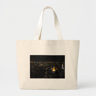 Southern Manhattan's East Side at Night 001 Jumbo Tote Bag