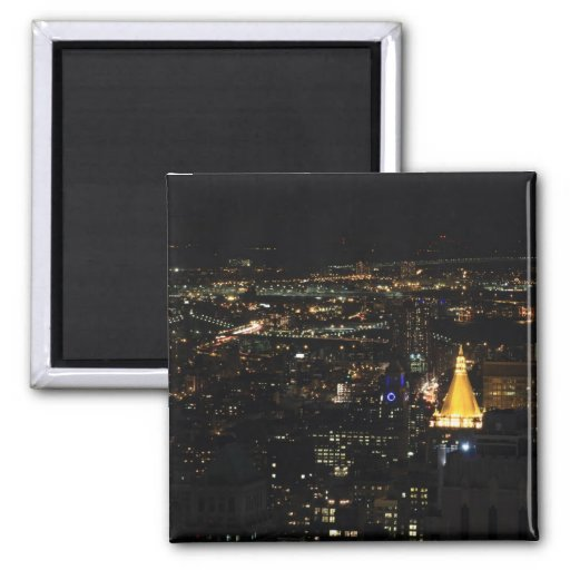 Southern Manhattan's East Side at Night 001 Magnets