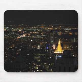 Southern Manhattan's East Side at Night 001 Mouse Pads