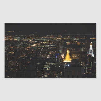 Southern Manhattan's East Side at Night 001 Rectangular Sticker