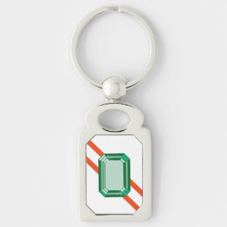 Southern Nephrite Keychain Silver-Colored Rectangle Key Ring