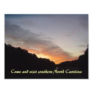 """Southern North Carolina Seascape & Sunrises 4.25"""" X 5.5"""" Invitation Card"""