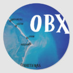 Southern OBX map Classic Round Sticker