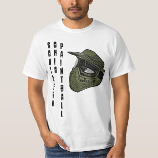 Southern Ohio Paintball Mask T/white Tee Shirt