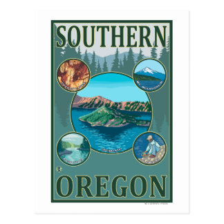 Southern OregonScenic Travel Poster Postcard