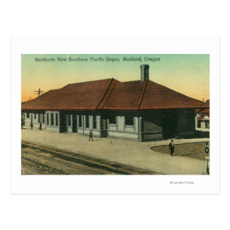 Southern Pacific Railroad Depot in Medford, OR Postcard