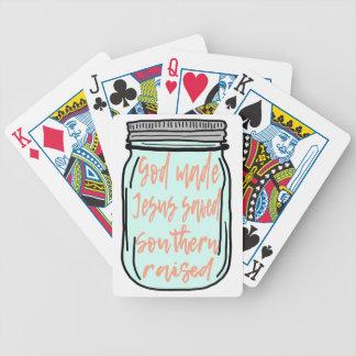 Southern Raised Mason Jar Bicycle Playing Cards
