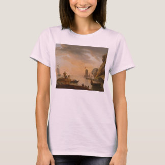 Southern Seaport with Fishermen by Claude J Vernet T-Shirt