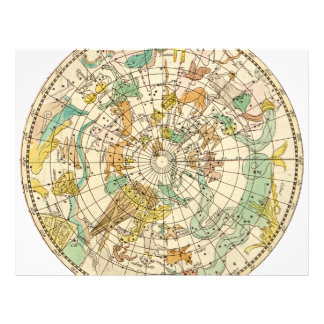 Southern Sky Star Chart and Constellations Map 21.5 Cm X 28 Cm Flyer