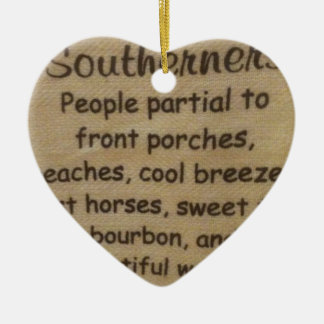 Southern slang ceramic ornament