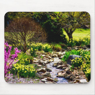 southern spring floral botanical gardens mouse pad